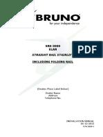 Bruno Elan Sre-3000 Stair Lift Installation Manual 05-13-2015