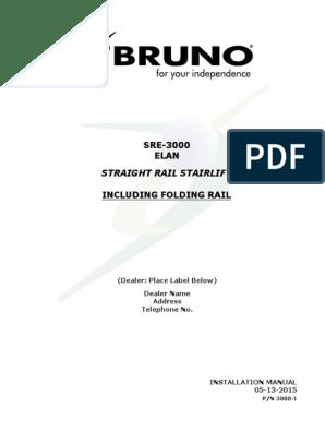 [DHAV_9290]  Bruno Elan Sre-3000 Stair Lift Installation Manual 05-13-2015 | Stairs |  Screw | Bruno Wiring Diagram |  | Scribd