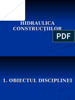 Hidraulica Constructiilor - Curs 1
