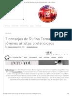 7 Consejos de Rufino Tamayo Para Jóvenes Artistas Pretenciosos - Cultura Colectiva
