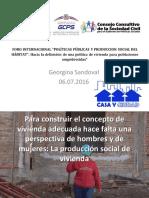 """""""La producción social de la vivienda y el Hábitat. Lecciones aprendidas en América Latina""""."""