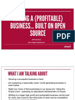 Making Profitable Business On Open Source