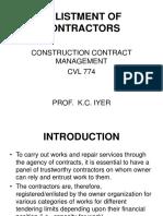 Enlistment of Contractors