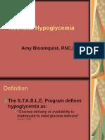 Neonatal Hypoglycemia APNEC