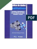 PEREIRA, Júlio Cesar Rodrigues. Análise de Dados Qualitativo