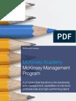 McK_Academy_McKinsey Management Program (MMP)_Brochure 2016