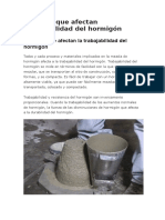 Factors Affecting Workability of Concrete