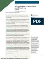 Efficacy, Acceptability, And Tolerability of Antipsychotics in Treatment-Resistant Schizophrenia