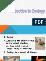 V Zoology Introduction