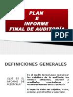 Plan Informe de Auditoría