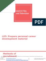 unit 8- lo5- prepare personal career development material