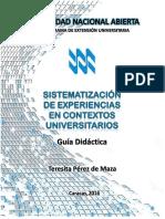 Teresita Perez de Maza - Guia Didactica - Sistematizacion de Experiencias en Contextos Universitarios - 92 Pag