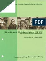 Vonwald - Kainig-Huber - Wie Es Bei Uns in Niederösterreichwar 1938-1945