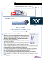 Cronología Universal Anterior Al Siglo XX