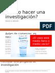 Investigacion y ensayo
