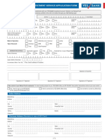 Investment Services Account (ISA) Form