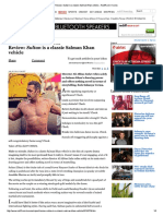 Review_ Sultan is a Classic Salman Khan Vehicle - Rediff