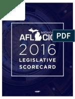 2016 MIAFLCIO Legislative Scorecard