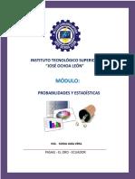 Compendio de Probabilidad y Estadística.