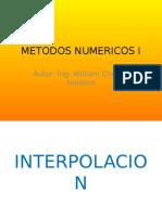 METODOS DE  INTERPOLACION