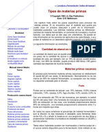 Producción Casera de Etanol, Tipos de Materias Primas