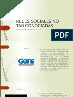 Redes Sociales No Tan Conociadas