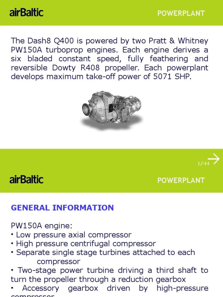 q400 presentation powerplant engines propeller rh pt scribd com