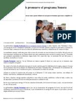 13-07-16 Claudia Pavlovich promueve el programa Sonora Dialoga. -Sexenio