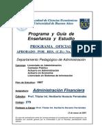 279- Administracion Financiera