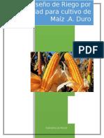 Diseño de Riegos por Gravedad en Cultivo de Maiz