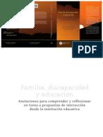Familia, discapacidad y Educación