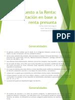Impuesto a La Renta Tributacion Con Renta Presunta (1)