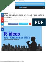 15 Ideas Para Promocionar Un Evento y Que Se Llene de Personas - Mclanfranconic
