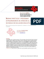 BUENAS PRÁCTICAS Y PROGRAMAS EXTRAORDINARIOS DE ATENCIÓN AL ALUMNADO EN RIESGO DE EXCLUSIÓN EDUCATIVA