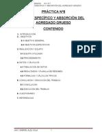 Práctica Nº8 (Peso Específico y Absorción Del Agregado Grueso)