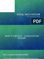 Vocal Fach System