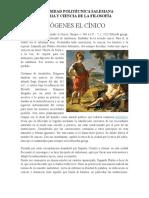 Diógenes El Cínico (Resumen biografia)