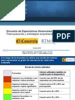 Presentación Resultados Encuesta Expectativas Gerenciales al 2015 RTM-El Comercio