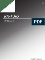 Yamaha RX V365 Manual