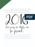2016 Planificador