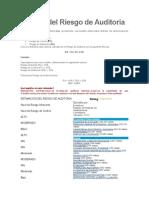 Cálculo Del Riesgo de Auditoria
