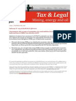 PwC Tax & Legal Mining, Energy and Oil Report - Marzo (01)