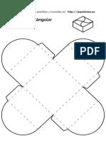 Plantilla Caja Forma Cuadrada Con Tapa