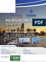 6th Annual Technical & Educational Mission for Bolivian Exporters and Customs Officials