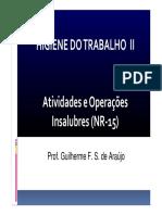 AULA 0 - Atividades e Operações Insalubres NR 15