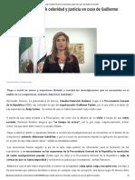 20-06-16 Exige Claudia Pavlovich celeridad y justicia en caso de Guillermo Padrés. -SDPNoticias