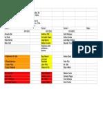 Calendario de Presentaciones, Ética Empresarial a - Hoja 1