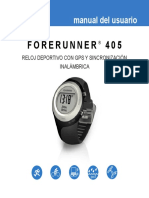 Manual Reloj Garmin 405