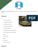5 Platicllos de Centroameria