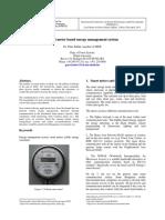 Smart meter based energy management system